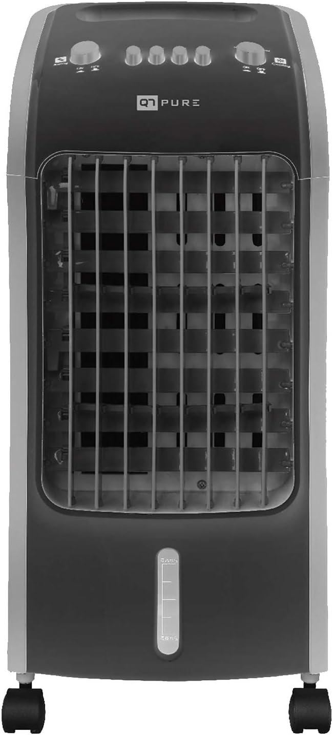 Novohogar Acondicionador de Aire Frío Portátil Q7 Pure 3 en 1. Climatizador, Humidificador y Purificador - Esterilizador de Aire. Bajo Consumo (80W). 3 Velocidades. Silencioso y Fácil de Usar: Amazon.es: Hogar