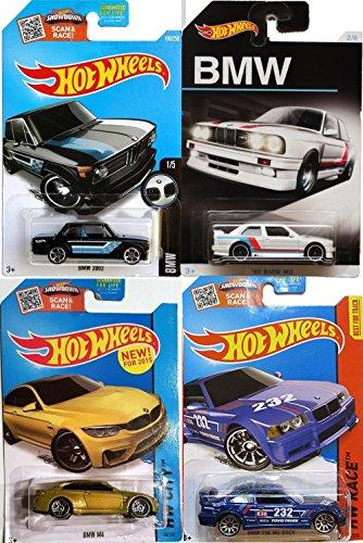 Hot Wheels BMW Exclusive '92 M3 + M4 Series & E36 Blue Race / Black 2002 model / Car (Red E36 Sedan)