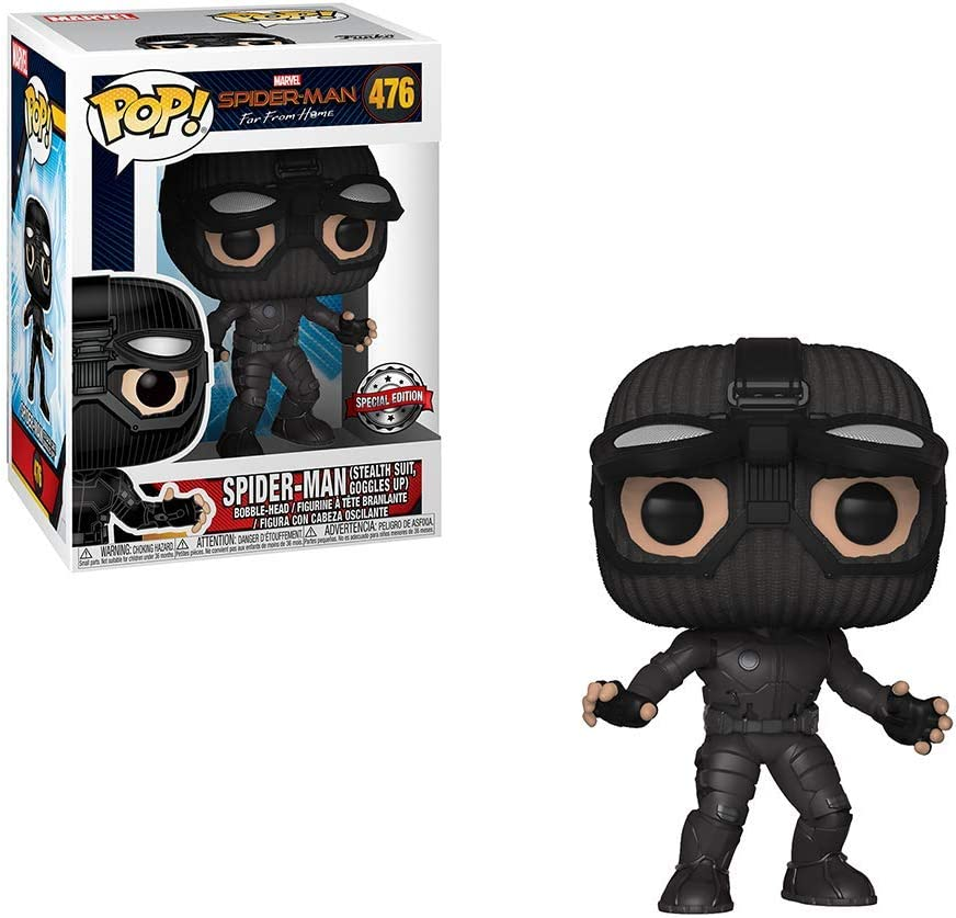 Funko Pop! Marvel: Spider-Man Far from Home - Spider-Man Stealth Suit (Goggles Up) Exclusive