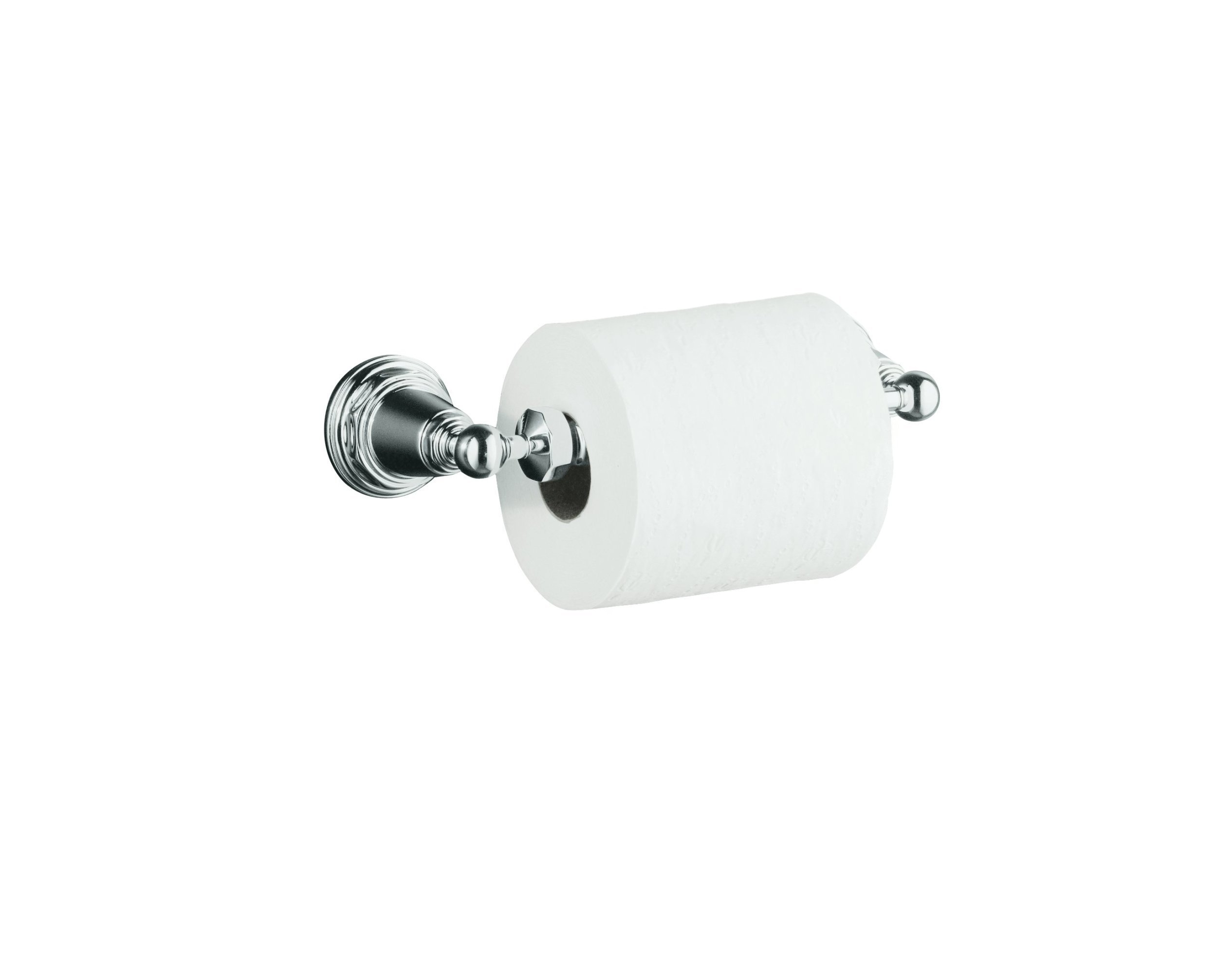 KOHLER K-13114-CP Pinstripe Toilet Tissue Holder, Polished Chrome