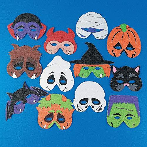 Werewolf Mask Halloween Express (Fun Express - Foam Monster Masks for Halloween - Apparel Accessories - Costume Accessories - Masks - Halloween - 12)
