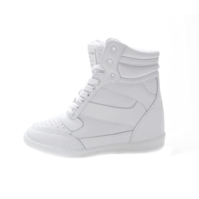 the best attitude e47ee e2769 Muro Women s Hi Top Hidden Wedge Heel Fashion Sneaker (Medium (Us 7~7.5