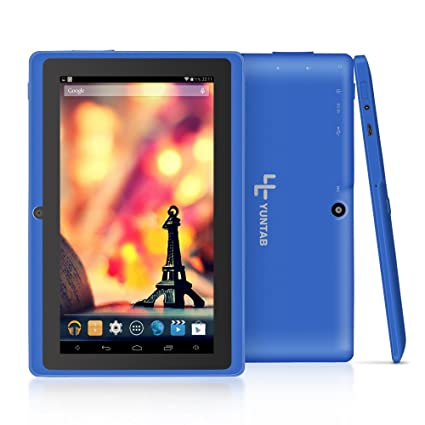 Yuntab Google Tablet 7 Pulgadas Q88 Android 4.4 Tablet PC Quad-Core 1 + 8GB Allwinner A33 HD 1024x600 1.5GHz Preinstalado cámara Dual Google Play, ...