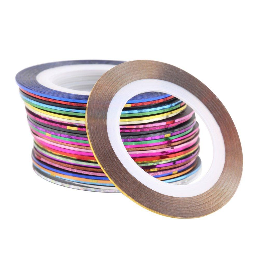 Winbang Nail Art Werkzeug, 30 Rolls Striping-Klebeband-Linie Nagel-Kunst-Dekoration-Aufkleber, Mischfarben
