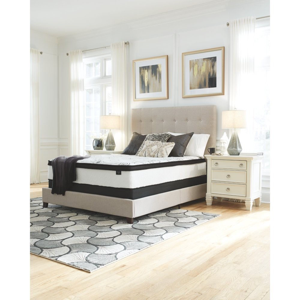 Ashley Furniture Signature Design - 12 Inch Chime Express Hybrid Innerspring - Firm Mattress - Bed in a Box - Queen - White by Signature Design by Ashley (Image #2)