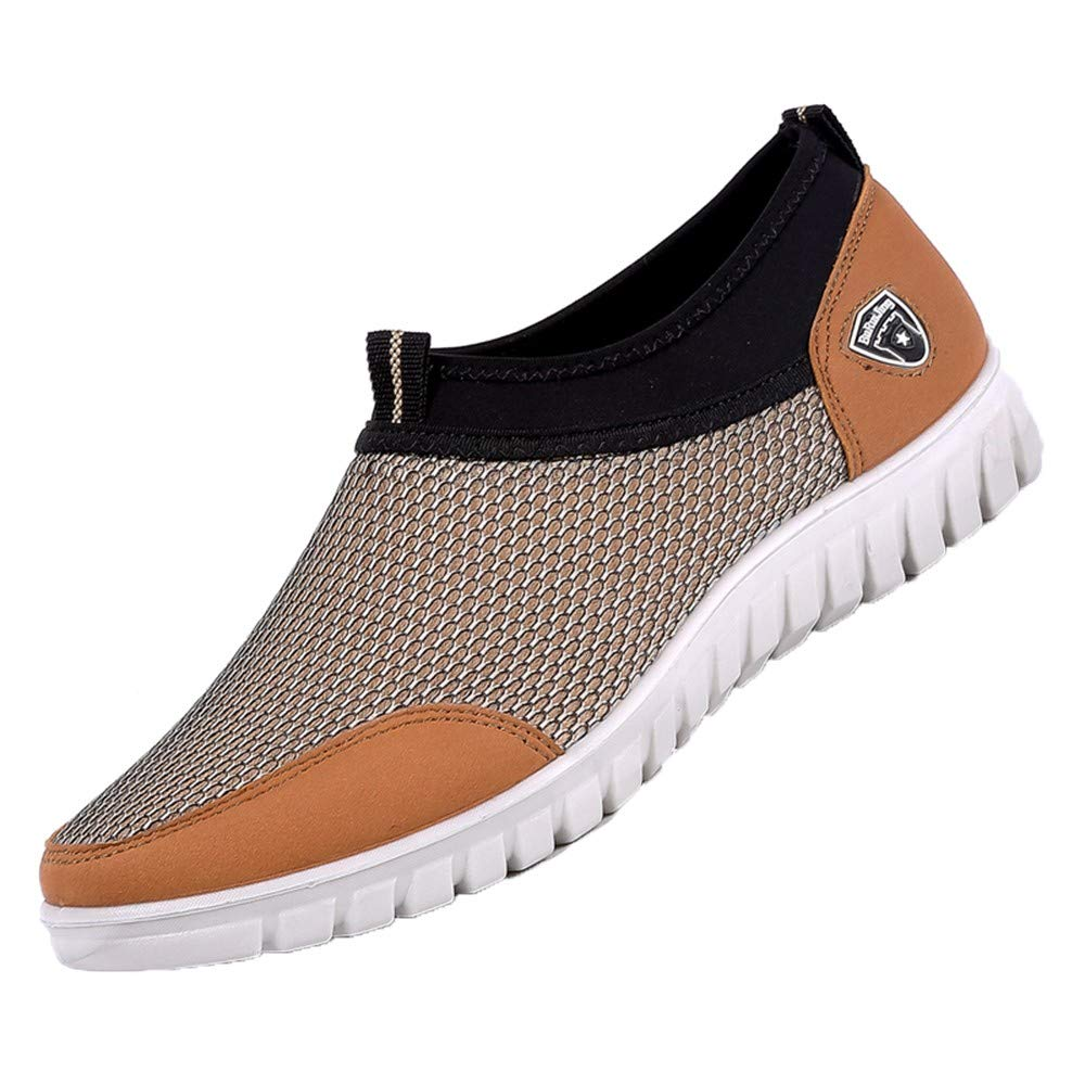 Plus Size Mens Breathable Slip-On Fashion Sneakers Casual Loafers Shoes