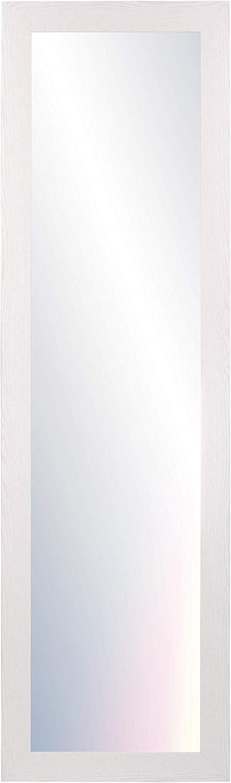 Chely Intermarket, Espejos de Pared Cuerpo Entero 35x140 cm (Marco Exterior 42x147 cm)(Blanco Raya) MOD-128 | Forma Rectangular | Dormitorio, Acabado Elegante, Ideal para decoración.(128-35x140-6,15)