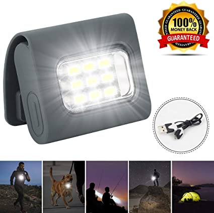 Torch Light LED Clip On Magnetic Hands Free Flashlight Clothes Cycling Running