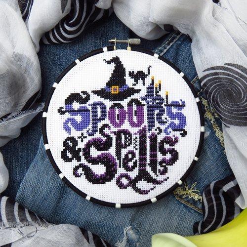 Spooky Cross Stitch Pattern - Chart Only (Needlepoint Chart)