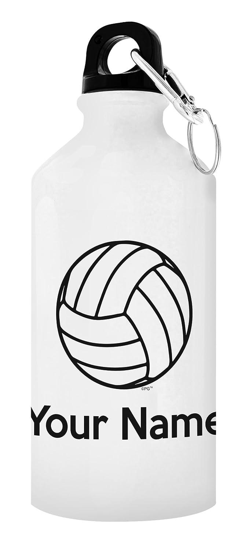 Personalized水ボトルYour Nameバレーボール水ボトルカスタマイズされたバレーボールバレーボールアクセサリー贈り物forバレーボールPersonalized Giftアルミウォーターボトルキャップ&スポーツトップ ホワイト B077K52GKR  20 oz White