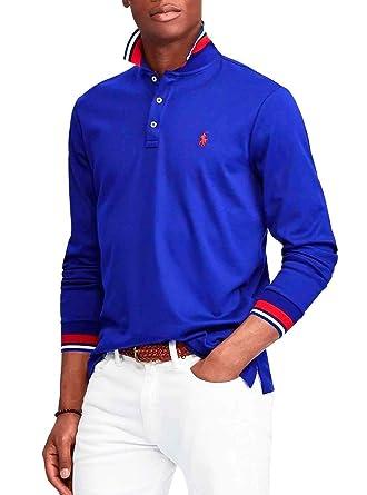 041a67ef32d6 Polo Polo Ralph Lauren LSKCCMSLM1 Bleu Homme  Amazon.fr  Vêtements et  accessoires