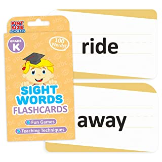 Sight Words Flashcards for Reading Readiness - Choose from 5 Grade Levels, 100 Words Each! by Pint-Size Scholars (Kindergarten)