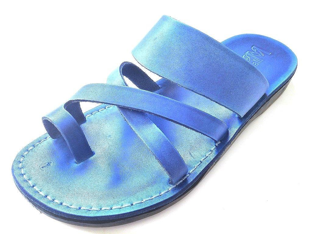 Biblical Sandals Roman Style SANDALIM Mens Genuine Leather Sandals Jesus Sandals Flip Flops