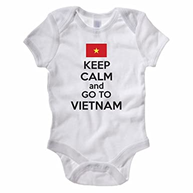 Novelty Themed Baby Grow Suit Southeast Asia KEEP CALM AND GO TO VIETNAM
