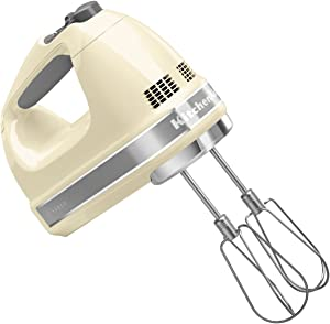 KitchenAid 7 Speed Hand Mixer (Almond Cream), KHM7210AC