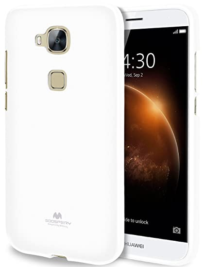 GOOSPERY Marlang Marlang Huawei G8/ GX8/ Mamang 4 Case - White, Free Screen  Protector [Slim Fit] TPU Case [Flexible] Pearl Jelly [Protection] Bumper
