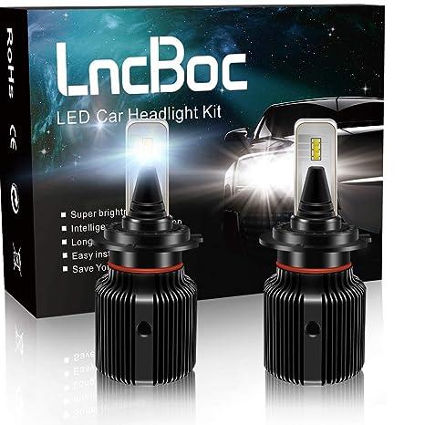 LncBoc H7 Faros LED Bombilla 40W 8000LM(4000LMx2) Bombillas de Faros de Coche 6500K