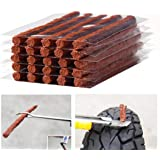 Firwood Flat Tire Plug Puncture Repair Strings, Tyre Repair Rubber Sealing Strip 8.5'' Extra Length for Off-Road Car…