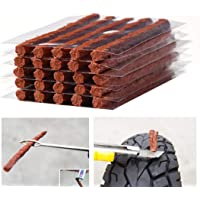 Firwood Flat Tire Plug Puncture Repair Strings, Tyre Repair Rubber Sealing Strip 8.5'' Extra Length for Off-Road Car Bike Motor ATV UTV SUV Wheelbarrow Mower 25PCS (Flat Tire Plug String)