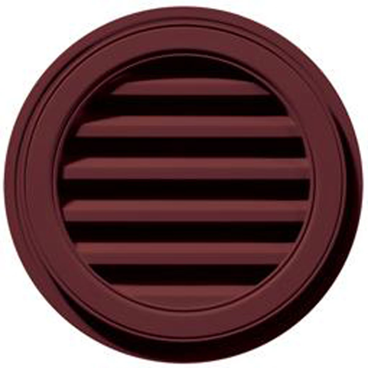22'' W x 22'' H Round Gable Vent Louver, 50 Sq. Inch Vent Area, 078 - Wineberry