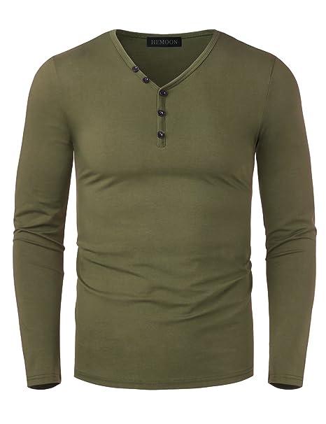 8989ab1e83fd HEMOON Herren T-Shirt mit V-Ausschnitt Kontrast Casual Slim Fit  Kurzarmshirt  Amazon.de  Bekleidung