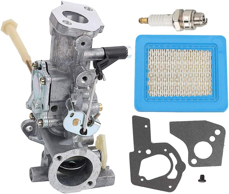 Powtol 498298 Carburetor + 491588S 491588 Air Filter for 692784 495951 492611 490533 495426 Carb with Spark Plug Gasket