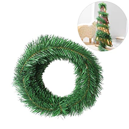 green christmas garland55m christmas garland wired garland party decoration festive ornamenttree - Green Christmas Garland