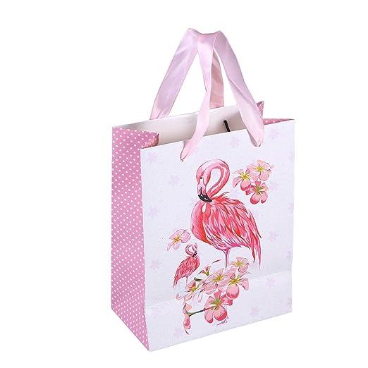 Amosfun 10 pcs Regalo Bolsas de Papel con Motivo Flamingo ...