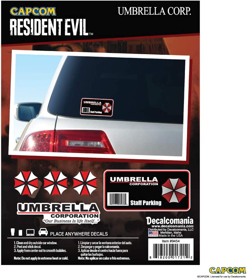 Resident Evil Umbrella Corporation Decal Staff Parking Sticker - Umbrella Corporation Stickers - Umbrella Corporation Car Decal - Umbrella Corporation Car Accessories