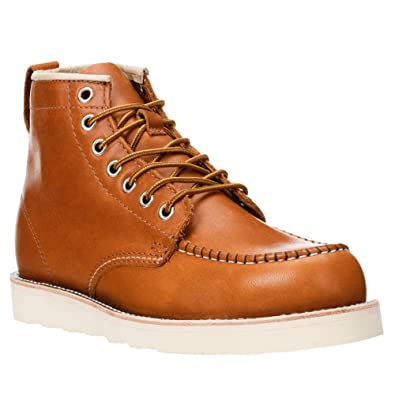 3ef674d908 Golden Fox Work Boots 6 quot  American Heritage Moc Toe Wedge Boot for  Construction Made in