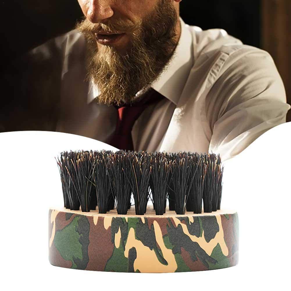 Boder Barre rinforzate Setole Soft Palm Beard Brush Spazzola per la Pulizia della Barba con Manico in Legno Scolpire la Spazzola per Capelli