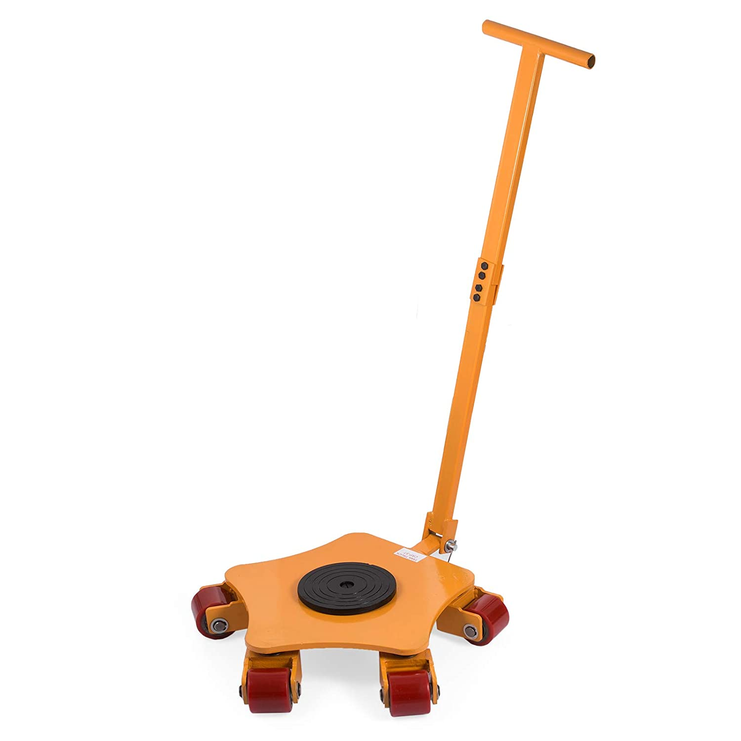 OrangeA Industrial Machinery Mover 13200-lb Machinery Skate w/ Steel Rollers Cap 360 Degree Rotation T&HI-B077JNYFYH