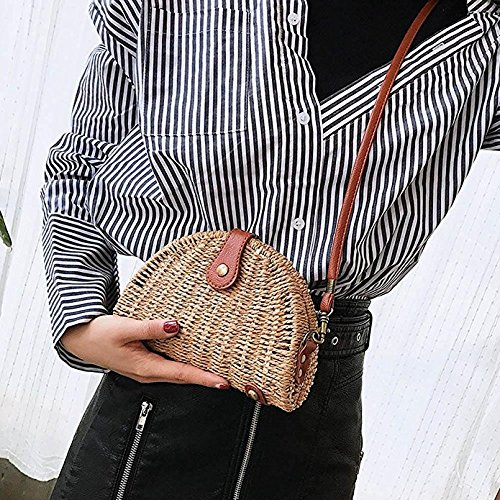 Bag Shape Travel Beach Shell Shoulder Straw Crossbody Holiday Handbags for Weave Summer Shoulder Messenger wSXqnt6x
