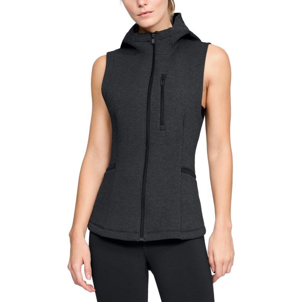 Under Armour Women's Misty Copeland Signature Spacer Full Zip Vest, Black (001)/Tonal, Small