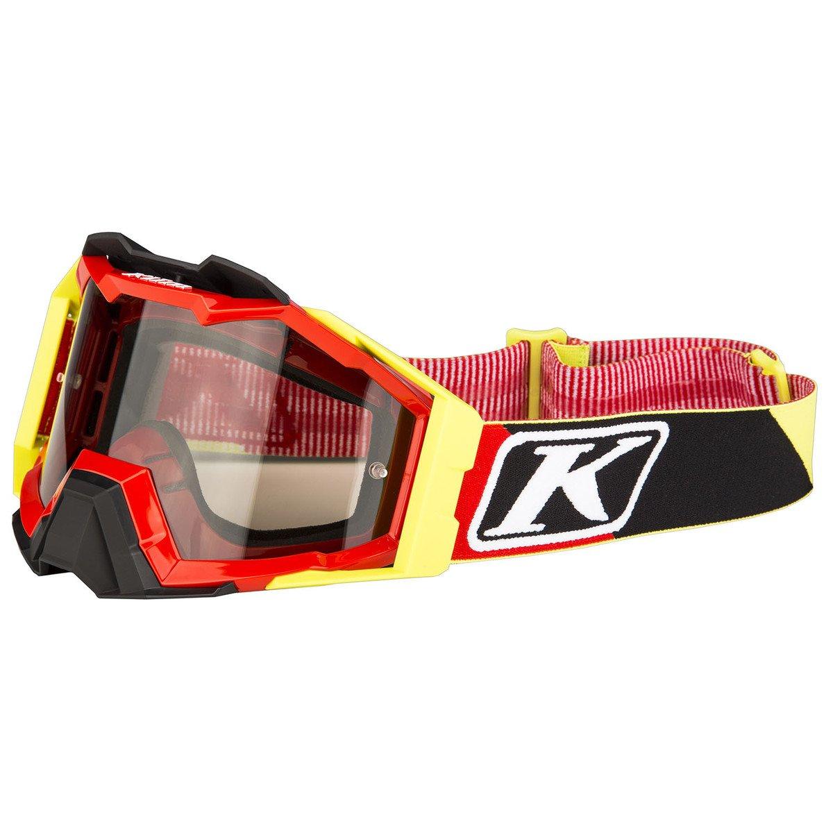 Diamond Fade Black - Smoke Silver Mirror and Lt Yellow Tint KLIM Oculus Goggle