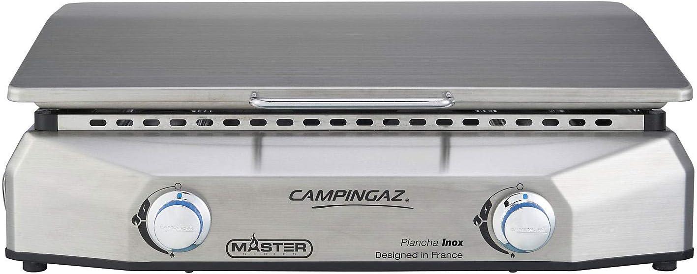 Campingz - Plancha de Gas BF Master EX 100% Inoxidable (Marco + Placa Inoxidable)