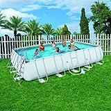Bestway 56274 Steel Pro Frame Rectangular Pool, 24-Feet by 12-Feet by 52-Inch