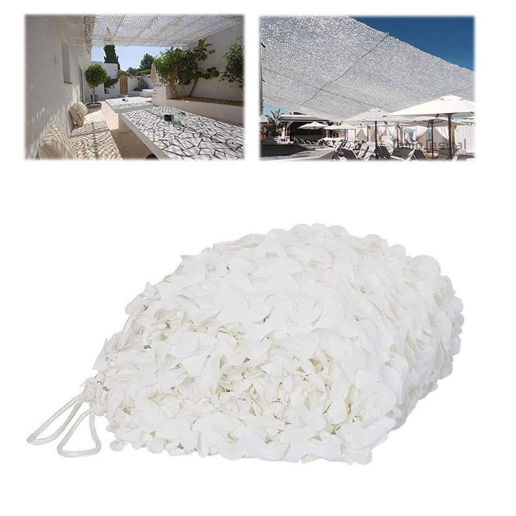Camouflage Net 3mx5m Shade Netting Sun Net White Camo Garden Shade Netting For Hunting Shooting Hide Army Outdoor Camping Hide Sun Shading Net Sunscreen Mesh Awnings Garden Decoration Car Coverd Shade