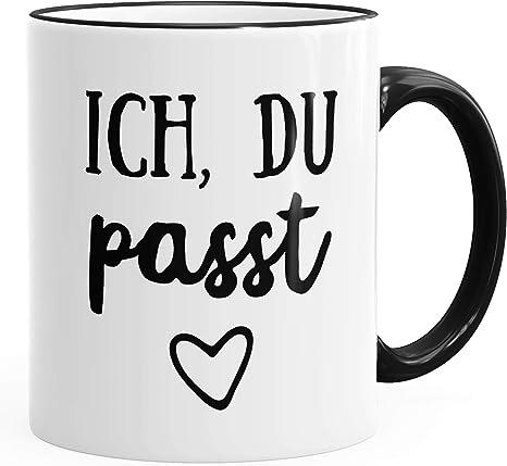 Kaffee-Tasse Ich du passt Geschenk Liebe Valentinstag Freund Freundin MoonWorks®