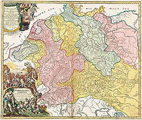 Alteste Hydrographische Karte Deutschlands 1712 Gerollt