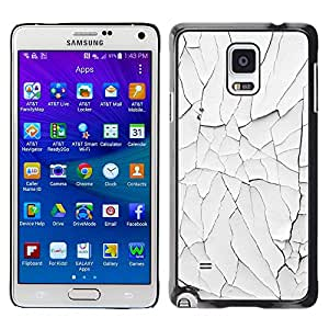 iKiki Tech / Estuche rígido - Paint White Shabby Rusty Wall - Samsung Galaxy Note 4 SM-N910F SM-N910K SM-N910C SM-N910W8 SM-N910U SM-N910