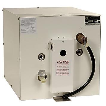 Calentador de agua caliente de 6 galones Whale Seaward, epoxi blanco, 240 V,