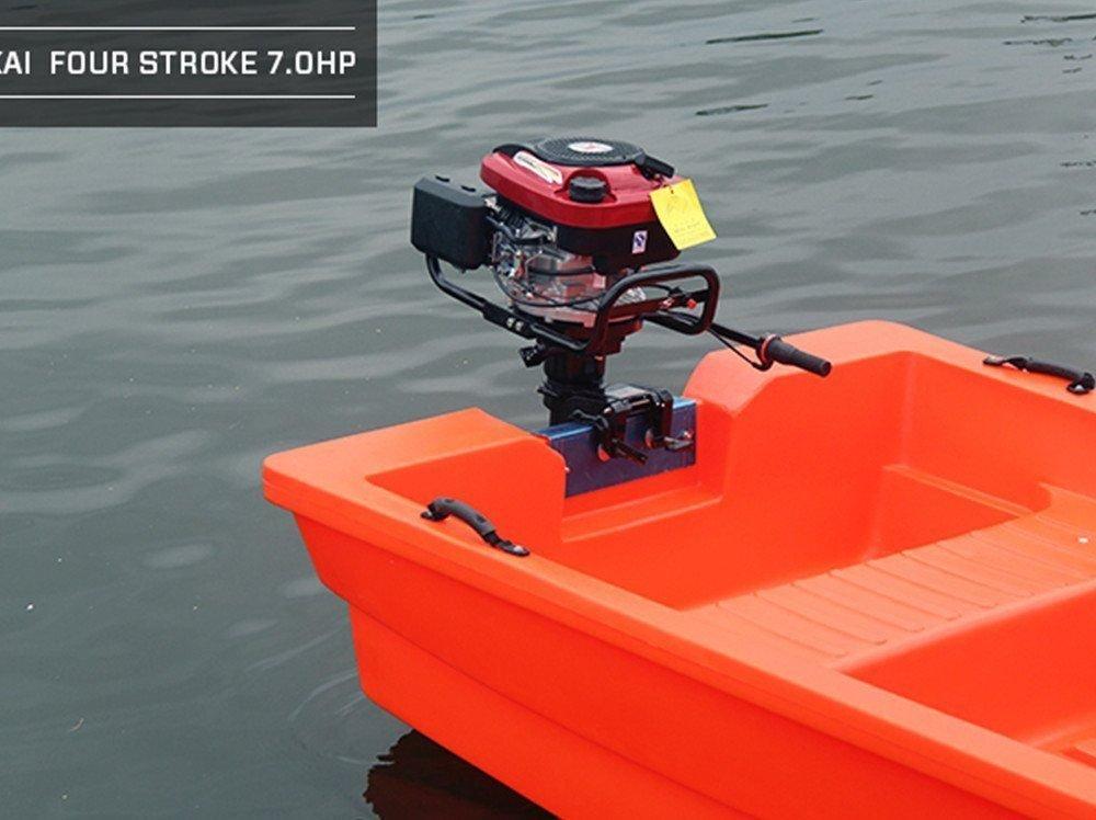 OUKANING Motor Fueraborda 4 Tiempos 7HP Refrigerado por Agua Alta ...
