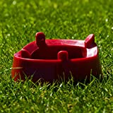 American Football Kicking Tee (Red, Plastic) – Placekickers Improve Your Field Goal Aim & Accuracy [Net World Sports]
