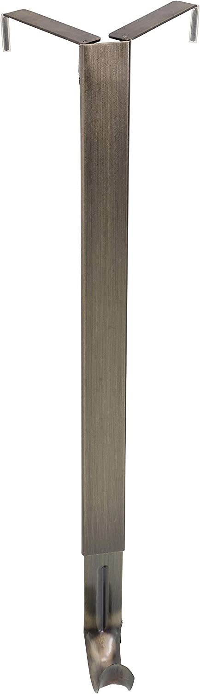 Haute Decor Adapt Adjustable Wreath Hanger, Top & Length Adjustable Version, Antique Brass