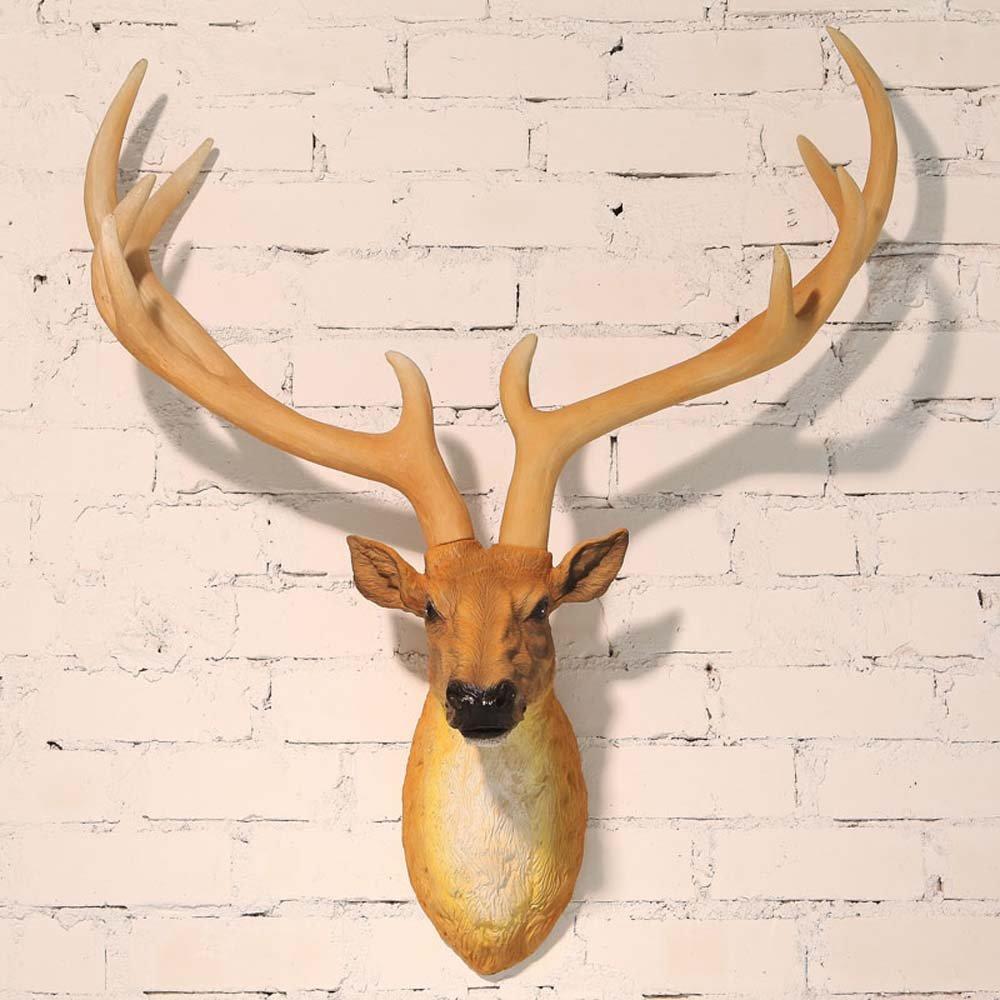 Simulation des Harzes Rotwild-Kopf-Wand amerikanisches Retro- Wohnzimmer-glückliche Dekorationen Wand-Dekoration (färben wahlweise freigestellt) ( farbe : 1 )
