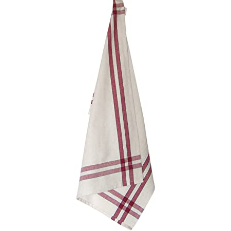 Dunroven House Cream Towel, 20 X 29 Inch, Cranberry And Green Stripe