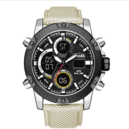 JAYE Reloj Deportivo para Hombre, Reloj Deportivo Militar Reloj Impermeable para Hombre, 30M Reloj