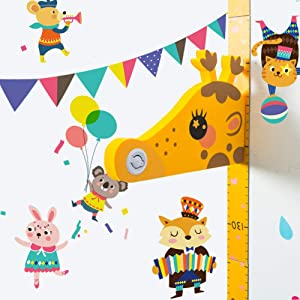 Holoras Baby Growth Height Chart Wall Sticker for Kids, Magnetic 3D Removable Giraffe Height Measurement Ruler Children Room Wall Decals