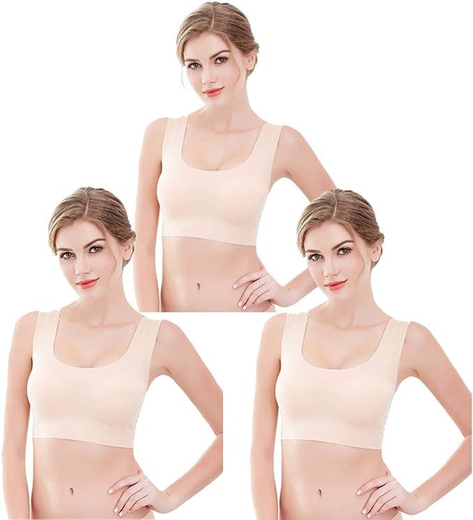 lttcbro Seamless Comfort Support Bra for Women Wireless Removable Padded Yoga Bra